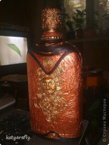 Вот еще одна моя бутылка, немного странная получилась.  фото 1