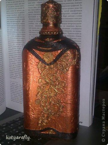 Вот еще одна моя бутылка, немного странная получилась.  фото 3