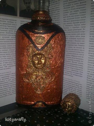 Вот еще одна моя бутылка, немного странная получилась.  фото 4