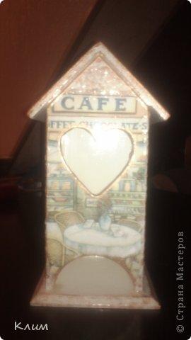 Чайный домик. Салфетки, декупажная карта, яичное кракле, гуммиарабик и шеллак. Извиняюсь за качество фоток. фото 1