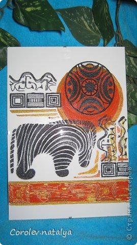 """Всем здравствуйте!!!!!!!!!! Представляю на ваш суд два панно на тему """" Африка"""" Это панно """" Праздник в Танжере"""" фото 11"""
