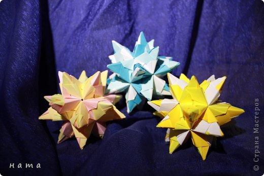 Благодаря Оле https://stranamasterov.ru/node/421934 я открыла для себя мир кусудам Марии Синайской  Little Roses Kusudama (squares) - 30 модулей. Наинежнейшее создание, Чайная роза... МК: http://goorigami.com/diagrams/little-roses-kusudama  Видео МК: http://www.youtube.com/watch?v=d9r2Llb8f8w  фото 6