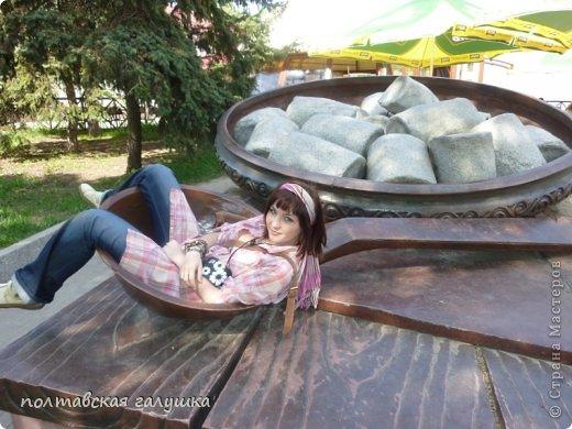Вот так выглядит памятник Полтавской галушке в г.Полтава. фото 4