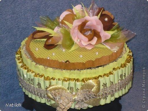 02.10 было День Рождение моей подруги Ксюши, ksene4ka76 https://stranamasterov.ru/user/174404, я ей сделала вот такой тортик. фото 1