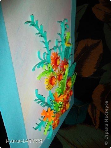 Добрый день, уважаемые жители СМ!!! Сегодня у меня цветочная композиция. Цветы, то ли календула, то ли не знаю даже какие. Цветы делала по МК Тёти Лены (за что ей огромное спасибо).  Мне кажется, что похожи на календулу. Хочу услышать ваше мнение: жду отзывов. фото 3