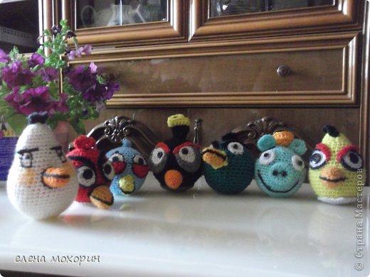Связала внуку птичек Angry Birds  фото 1