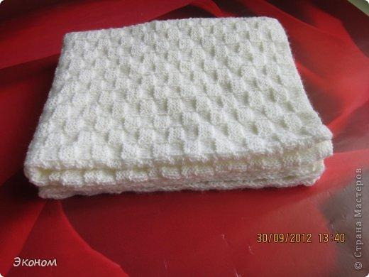 Одеяльце связала для племянницы Алисы, которой всего месяц. Вязала из пряжи BABY VITA, ушло 2 мотка. фото 1