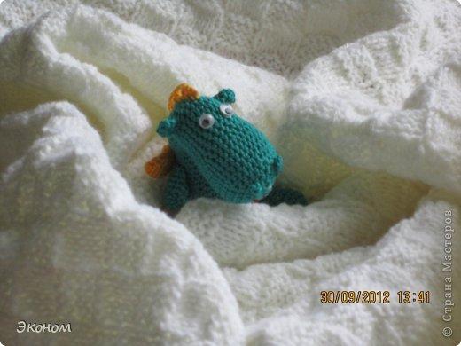 Одеяльце связала для племянницы Алисы, которой всего месяц. Вязала из пряжи BABY VITA, ушло 2 мотка. фото 4