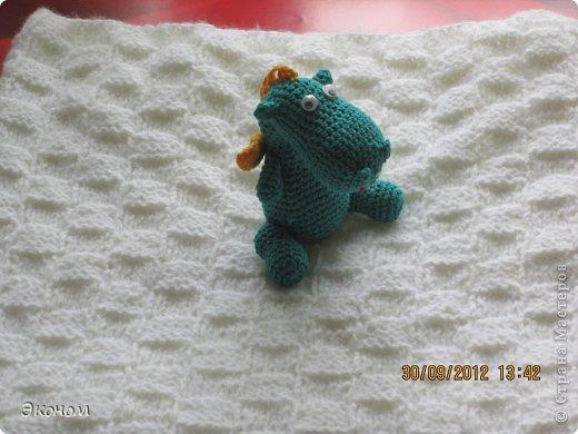 Одеяльце связала для племянницы Алисы, которой всего месяц. Вязала из пряжи BABY VITA, ушло 2 мотка. фото 6