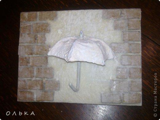 Очень понравилась ключница Елены Франскевич  (спасибо ей за МК, за ее фантазию и золотые ручки). Прямо влюбилась в ее зонтик. Вот что получилось у меня) фото 4