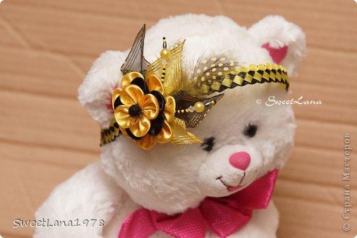 Комплект для маленькой модницы: ободок+браслетик. фото 3