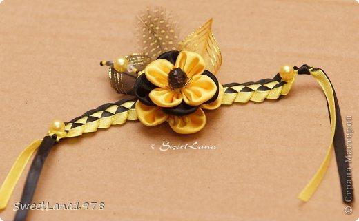 Комплект для маленькой модницы: ободок+браслетик. фото 2