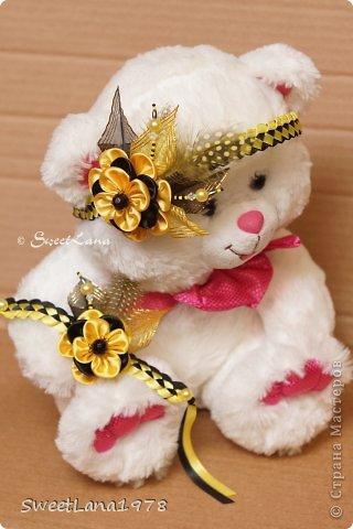 Комплект для маленькой модницы: ободок+браслетик. фото 1