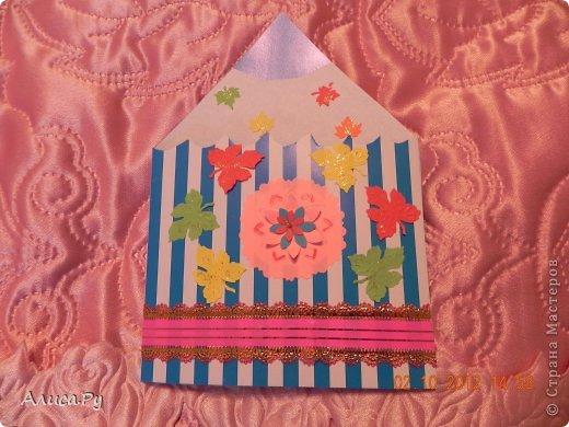 В предверие дня учителя мы с бабулей и мамой готовили сюрпризики для учителей, для моей классной руководительницы мама сделала корзинку со сладкими цветами(она уже выставлена на маминой страничке), а  вот такой карандашик мы сделали для моей первой учительницы фото 4