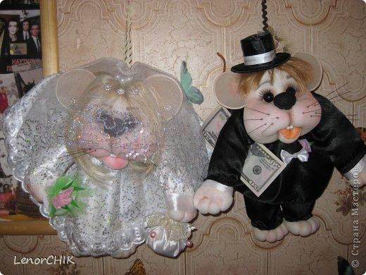 Привет СТРАНА! Хочу показать Вам немного новенького)))  Это свадебные мышки. Жених в новом образе))) фото 1