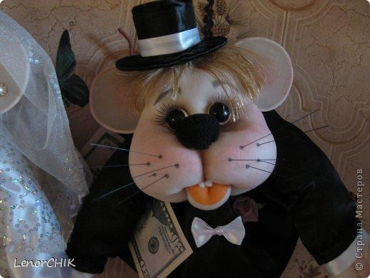 Привет СТРАНА! Хочу показать Вам немного новенького)))  Это свадебные мышки. Жених в новом образе))) фото 3