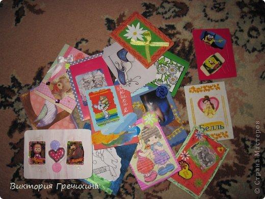 Решила я сделать маленький отчет о всех моих присланных карточках и материалах!  фото 1