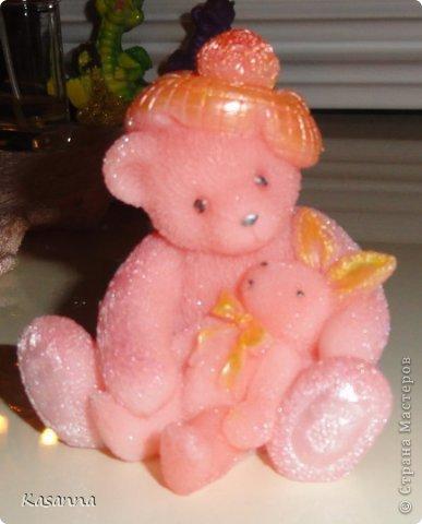 """Мишка в коляске. Из мыльной основы, с миндальным маслом, америк. отдушка """"Обезьянья радость""""))  фото 52"""