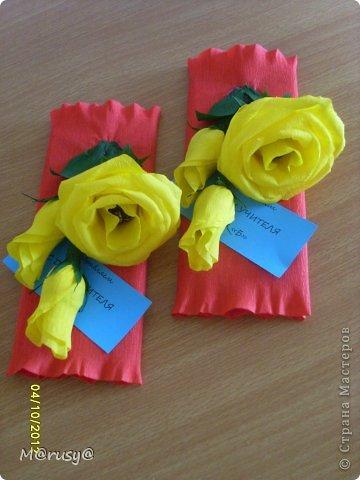 Всем здрассттииии!!!!!!!!!!!!!!!!!!! Вот такие подарки я сделала нашим учителям предметникам. Три дня не покладая ручек. И зачем спрашивается я согласилась войти в род.комитет)))))))))))))))) фото 5