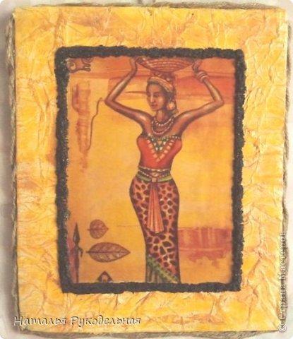 Панно в африканском стиле