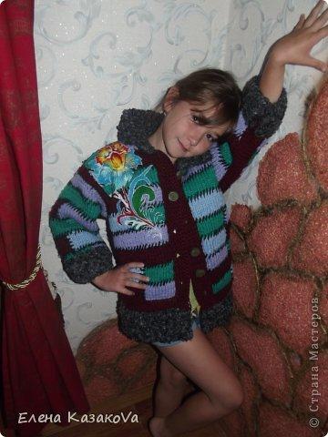 Вот такое вот пальтишко я вязала своей старшей дочери...лет эдак)))пятнадцать назад))) фото 3
