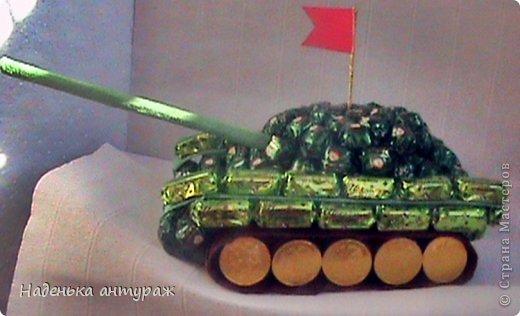 Вот такой танк Т54 сделала недавно .  фото 1
