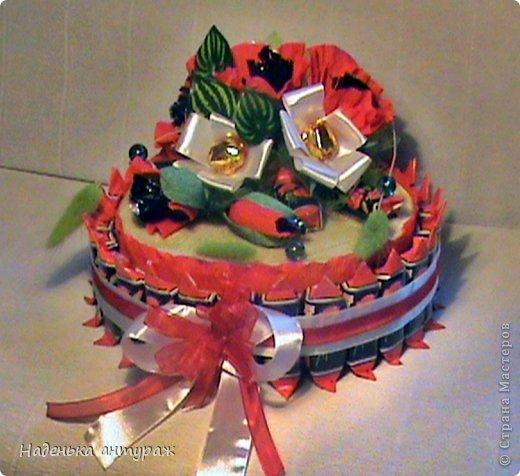 При изготовлении тортика использовала мк анютиных глазок https://stranamasterov.ru/node/305915?c=favorite Большое вам за это спасибо!!!! фото 1