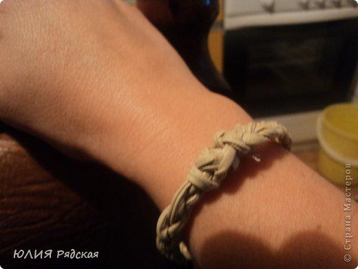 вот захотелось мне браслетик. столько красивых браслетиков в СМ. Начала с простого. Потом что нибудь по круче наверчу)))) фото 2