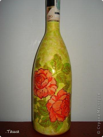 Такая бутылочка у меня уже была, но клиенты просят повторять ее снова и снова, уже и не помню сколько раз ее делала)) фото 4
