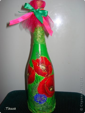 Такая бутылочка у меня уже была, но клиенты просят повторять ее снова и снова, уже и не помню сколько раз ее делала)) фото 1
