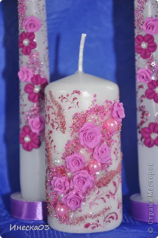 Свадебный сезон потихонько дает о себе знать.Покупаются пока только мои свечи -поэтому сделала еще партию. фото 4