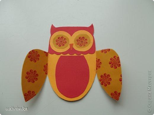.Прекрасным подарком в  День Учителя станет, сделанная своими руками, открытка в виде совы.