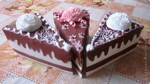 Доброго времени суток! Увидела как-то в Стране бумажные тортики с сюрпризами внутри и не устояла! Ждала подходящего случая, чтобы попробовать самой. И вот он наступил - день рождения племянников! Правда, торт делать не стала, не располагаю временем, а сделала вот такие кусочки.  фото 4