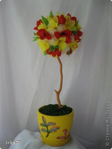 Сделала вот такое деревце, очень уж напоминает оно мне пирожное)))  фото 10