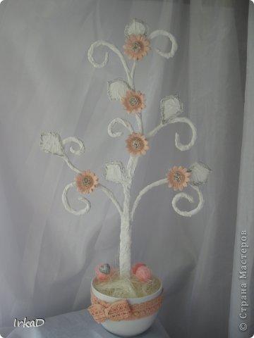 Сделала вот такое деревце, очень уж напоминает оно мне пирожное)))  фото 6