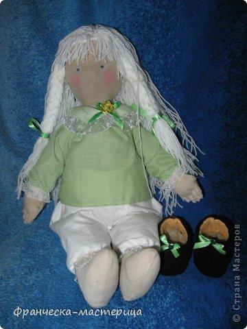 Здравствуйте, дорогие жители и посетители СМ! Вот и пошилась у меня новая девочка, на сей раз - ароматная! Вкусный шоколадно - кофейный запах от куколки просто требует взять её на ручки!  фото 6