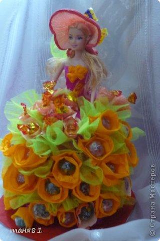 Доброго всем времени суток!!! Сегодня у меня воттакая куколка! Сделала крестнице на день рождения. Делала впервые , ну что уж получилось... фото 2