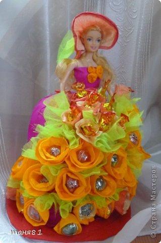 Доброго всем времени суток!!! Сегодня у меня воттакая куколка! Сделала крестнице на день рождения. Делала впервые , ну что уж получилось... фото 3