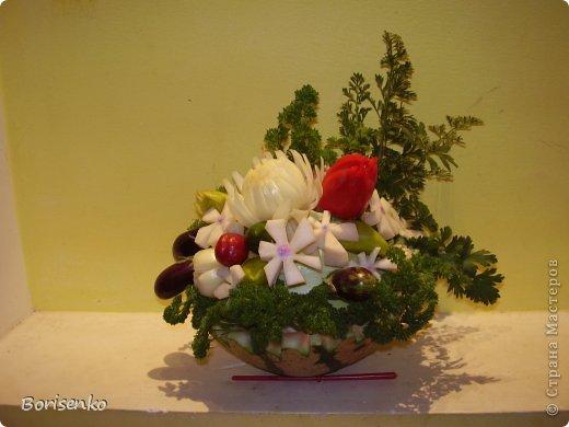 Корзинка цветов фото 3