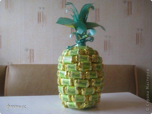 Сделала сладкий ананасик на День Рождения любимой доченьке. Не судите люди строго, Не суди меня страна, Ананасик недотрога, Так родился у меня. фото 1