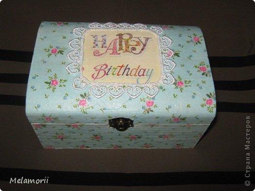 Шкатулка была изготовлена в подарок на день рождения девочке-подростку. фото 3