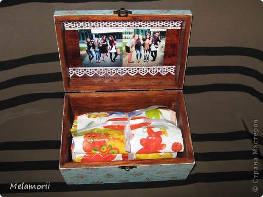 Шкатулка была изготовлена в подарок на день рождения девочке-подростку. фото 6
