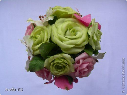 Цветочная композиция из холодного фарфора. фото 4