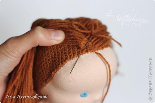 МК волосы вальдорфской кукле фото 11