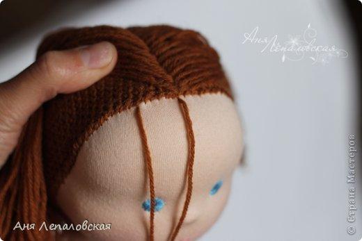 МК волосы вальдорфской кукле фото 12