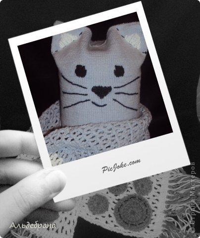 """комплект """"Котенок для моего котенка"""": пряжа """"ALIZE Cotton Gold"""" 1 моток серой и немного белой, спицы 2 мм, крючок №3; подклад: трикотаж, хлопок. Шапочка на 4-5 лет (окр.головы 42 см, глубина 20 см) фото 1"""