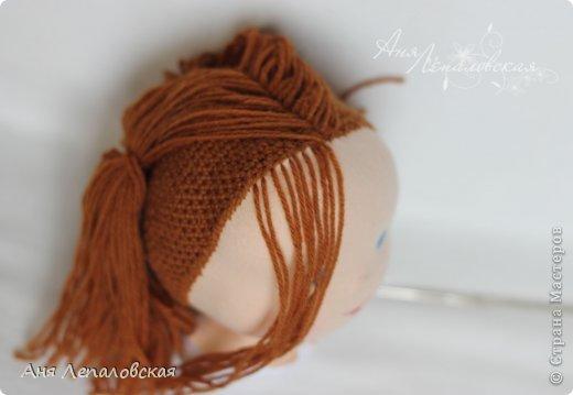 МК волосы вальдорфской кукле фото 13