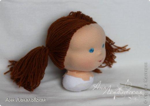 МК волосы вальдорфской кукле фото 14