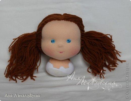 МК волосы вальдорфской кукле фото 15