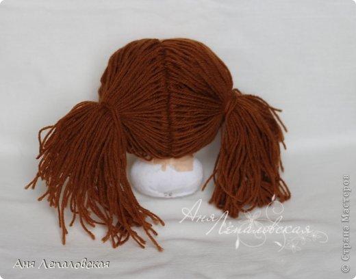 МК волосы вальдорфской кукле фото 16